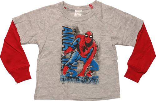 Amazing Spiderman Reverse LS Toddler T-Shirt