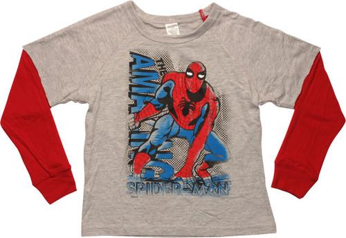 Amazing Spiderman Reverse LS Juvenile T-Shirt