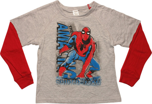 Amazing Spiderman Reverse LS Juvenile T-Shirt