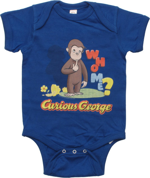 Curious George Who Me Snap Suit