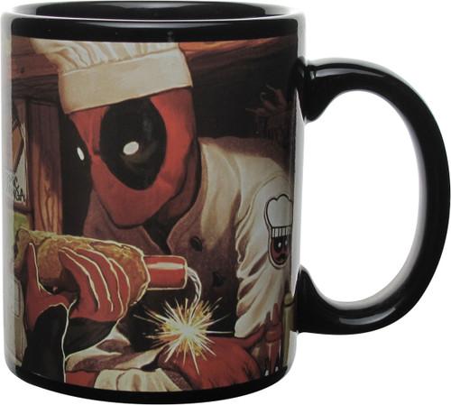 Deadpool Atomic Chimichangas Heat Change Mug