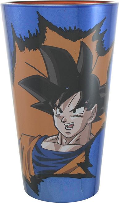 Dragon Ball Z Goku Chrome Blue Pint Glass