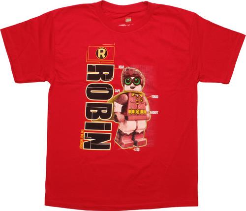 Lego Batman Robin Schematic Youth T-Shirt