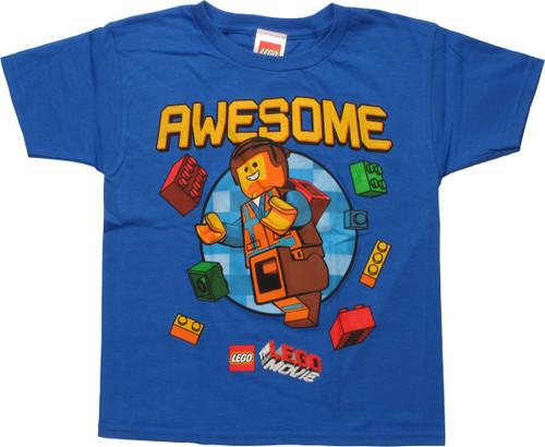Lego Movie Awesome Emmet Juvenile T-Shirt