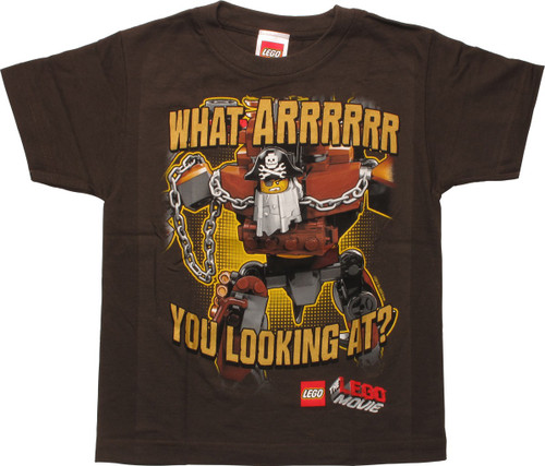 Lego Movie Looking At Pirate Juvenile T-Shirt