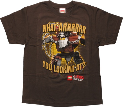Lego Movie Looking At Pirate Youth T-Shirt
