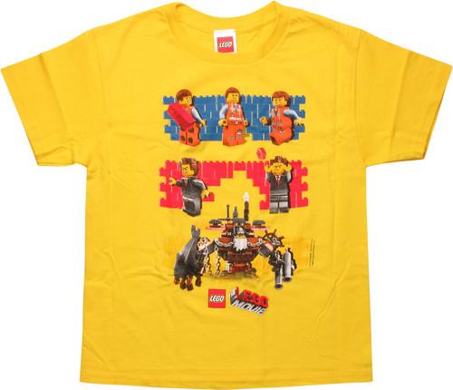 Lego Movie Brick Walls Youth T-Shirt