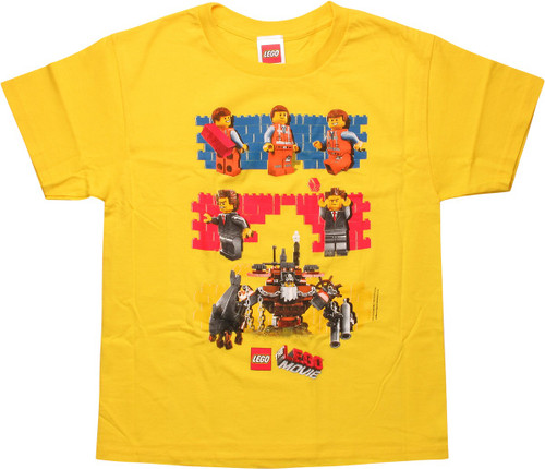Lego Movie Brick Walls Youth T-Shirt