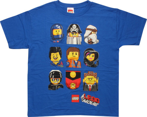 Lego Movie Cast Busts Youth T-Shirt