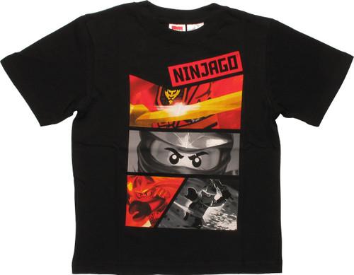 Lego Ninjago Panels Juvenile T-Shirt
