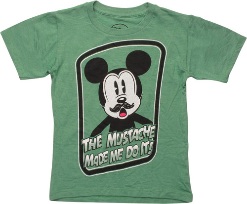 Mickey Mouse Mustache Made Me Juvenile T-Shirt