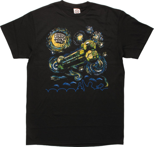 MST3K Van Gogh Starry Night T-Shirt