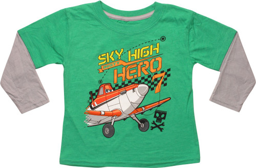 Planes Dusty Sky High Hero 7 LS Toddler T-Shirt