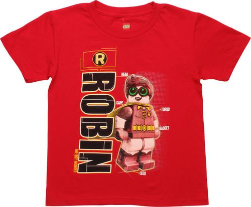 Robin Lego Schematic Juvenile T-Shirt