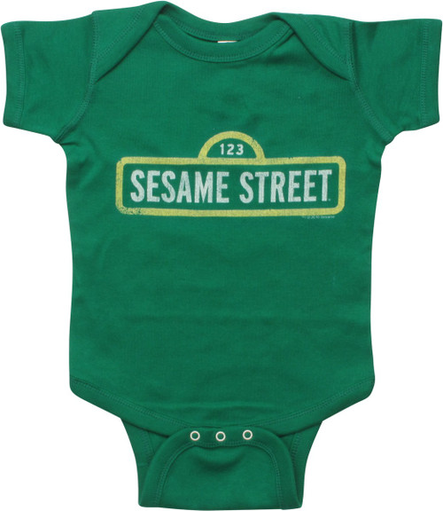 Sesame Street Distressed Logo Snap Suit