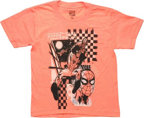 Spiderman Checker Swing Juvenile T-Shirt