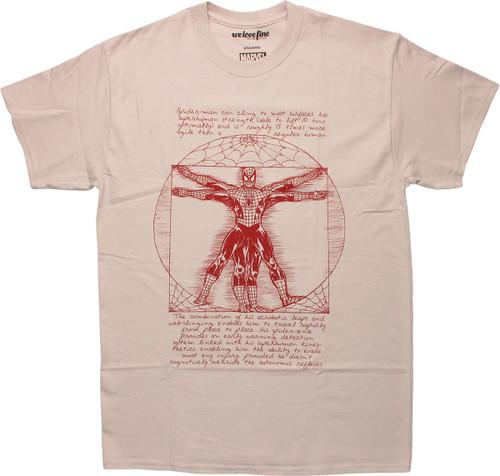 Spiderman Vitruvian Man T-Shirt