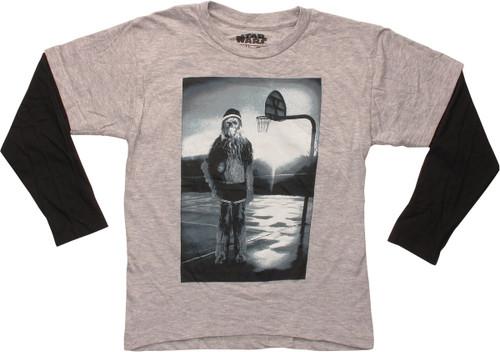 Star Wars Chewbecca Basketball LS Juvenile T-Shirt