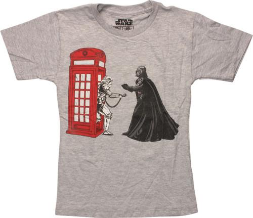 Star Wars Phone for Vader Juvenile T-Shirt