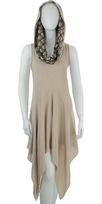 Star Wars Rey Cowl Hood A Line Mighty Fine Dress