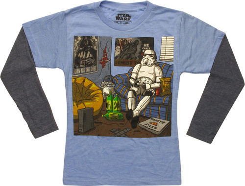 Star Wars Stormtrooper Chillin LS Juvenile T-Shirt