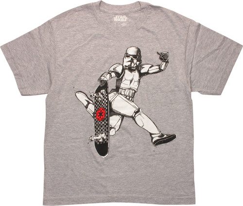 Star Wars Stormtrooper Skateboard Youth T-Shirt