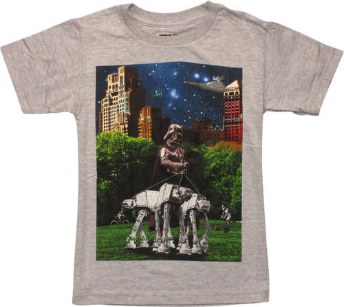 Star Wars Vader Walking AT-AT Juvenile T-Shirt