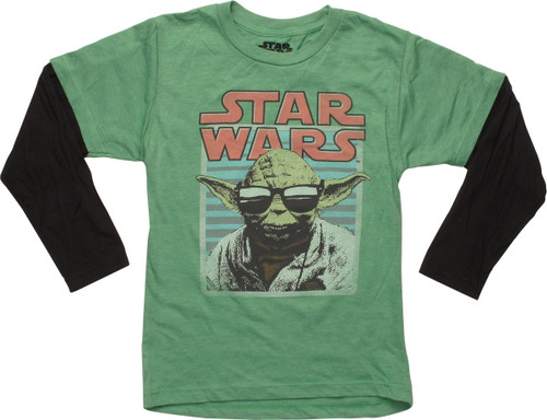 Star Wars Yoda Shades Long Sleeve Juvenile T-Shirt