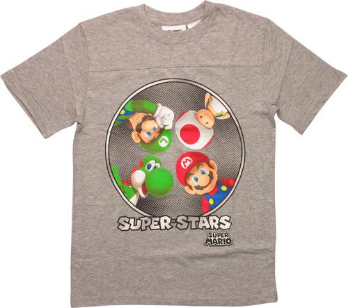 Super Mario Super Stars Youth T-Shirt