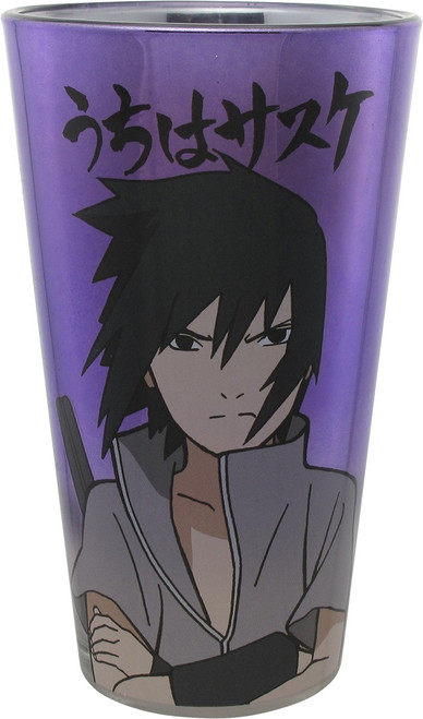 Naruto Sasuke Uchiha Japanese Pint Glass