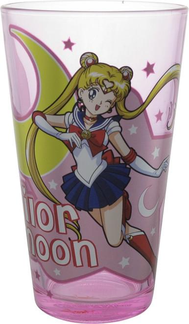 Sailor Moon Usagi Tsukino Wink Pink Pint Glass