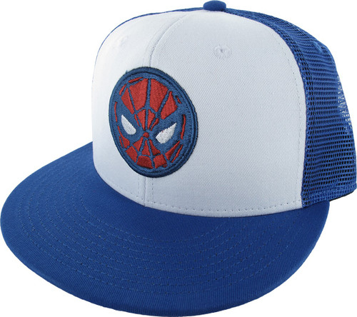 Spiderman Mask Mesh Snap Youth Hat