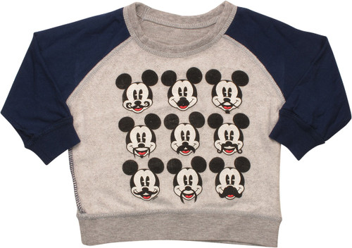 Mickey Mouse Staches Inside Out Infant Sweatshirt