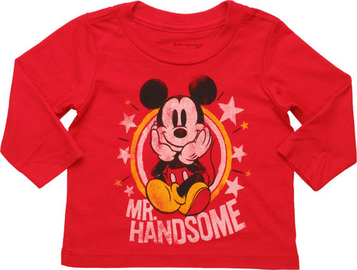 Mickey Mouse Mr Handsome Long Sleeve Infant Shirt