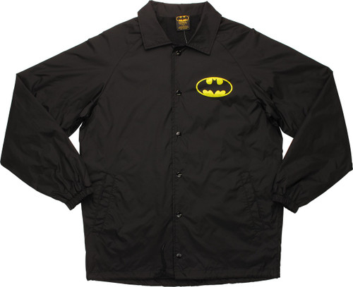 Batman Logo with Name Coach Snap Jacket