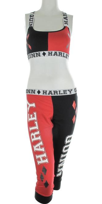 Harley Quinn Bandeau Jogger Capri Pajama Set