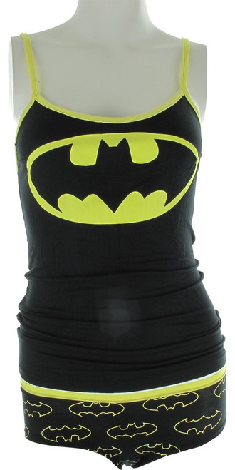 Batman Logo Rayon Cami Panty Pajama Set