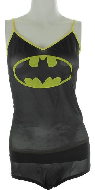 Batman Logo Mesh Cami Panty Pajama Set