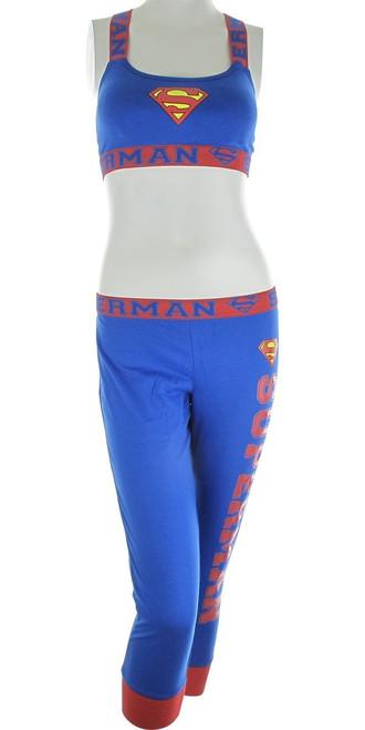 Superman Bandeau Jogger Capri Pajama Set