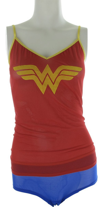 Wonder Woman Mesh Cami Panty Pajama Set