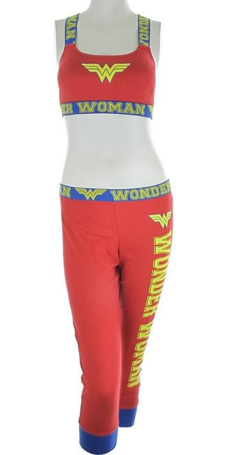 Wonder Woman Bandeau Jogger Capri Pajama Set