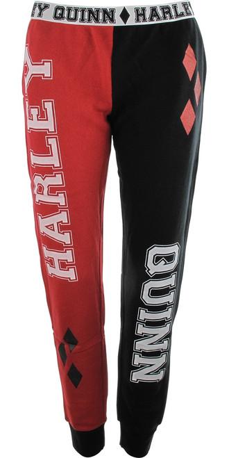 Harley Quinn Knit Jogger Womens Pants