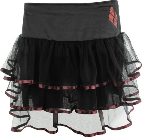 Harley Quinn Logo Left Tutu Skirt