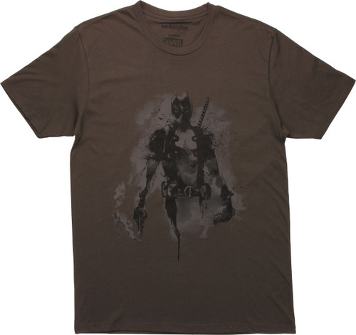 Deadpool Ink Blot Pose Mighty Fine T-Shirt