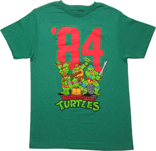 Ninja Turtles 84 Group Action Pose MF T-Shirt