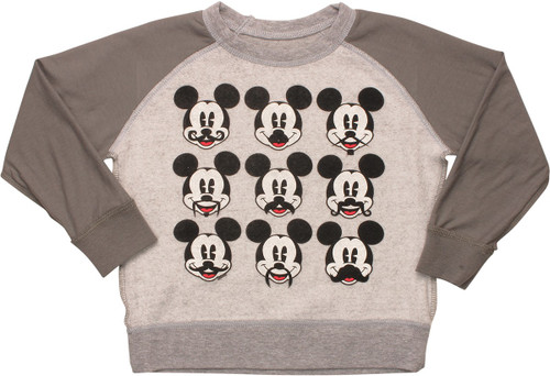 Mickey Mouse Staches Inside Out Toddler Sweatshirt