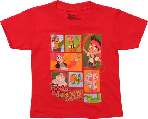 Jake and the Never Land Pirates Squares Toddler T-Shirt