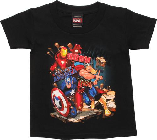 Avengers Broken Walkway Trio Toddler T-Shirt