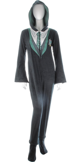 Harry Potter Slytherin Hooded Union Suit