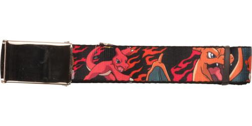 Pokemon Charmander Flamed Evolution Mesh Belt
